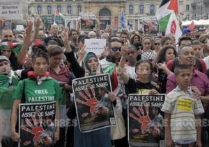 palestine manif ad nauseum